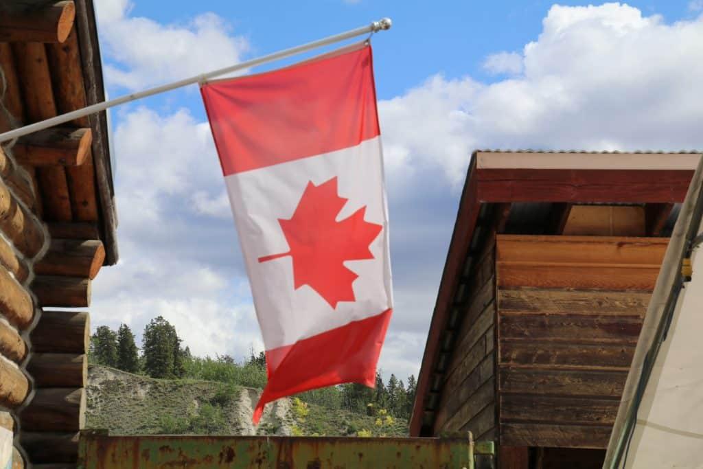 Canada's flag på MacBride museum