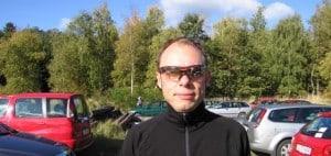 Sziols sportsbriller og solbirille med styrke. Carsten med sin solbriller på.